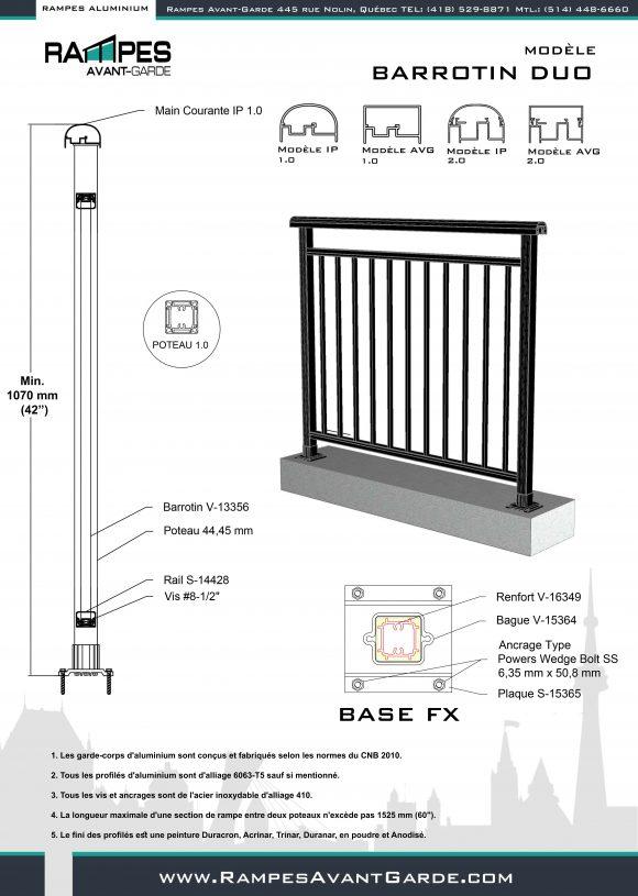 DUO BAROTINS~ Rampes Aluminium